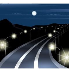 Night Highway vector image