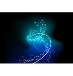 blue spiral vector image