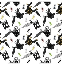 Tattoo machines and ink pattern color vector