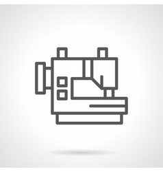 Industrial sewing machines black line icon vector image