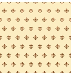 Seamless pattern with royal lily vector
