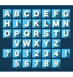 Alphabet font flat design vector