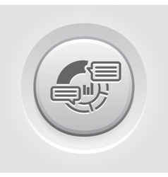 Analytics icon grey button design vector