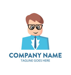 businessman logo-6 vector image