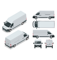 commercial vehicle logistic car cargo minivan vector image vector image