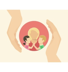 Family care vector image vector image