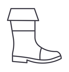 fishing boots line icon sign vector image vector image