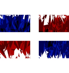 Flag of the Dominican Republic vector image vector image