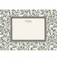 floral pattern and decorative frame vector image vector image