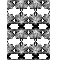 Geometric monochrome stripy seamless pattern black vector