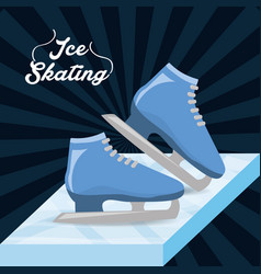 Ice skating sport game to competition vector