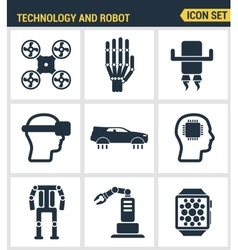 Icons set premium quality of future technology and vector