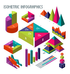 Isometric 3d diagrams and graphs for your vector