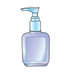Lotion pump bottle vector