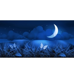 Night landscape vector image vector image