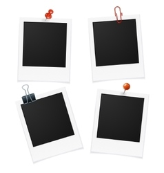 Photo Frames and Pin vector image vector image