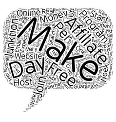Quickest way to make money online guaranteed text vector