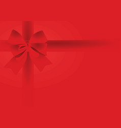 red bow on red background vector image