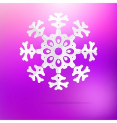 Snowflake origami on purple pink EPS8 vector image vector image