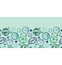Sports balls horizontal seamless pattern vector image