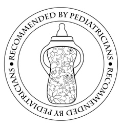 Stamp recommended by pediatricians vector