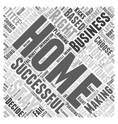 Successful home businesses a second income from vector