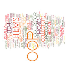 The oop factor in collectible items text vector