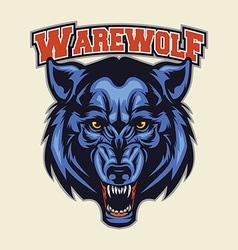 warewolf head mascot vector image vector image