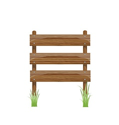 Wooden sign on a grass vector image