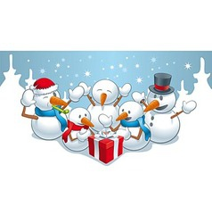 Gift for snowmens vector
