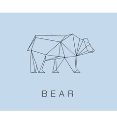 Modern icon of bear logotype design vector