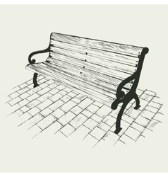 Bench isolated on white background vector