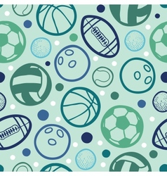 Sports balls seamless patterns backgrounds vector