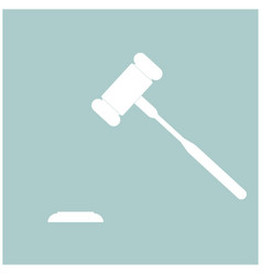 the judicial hammer the white color icon vector image