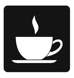 Cup of tea or coffee icon simple vector