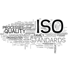 What is iso text word cloud concept vector