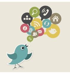 Social bird vector