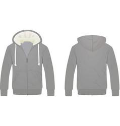 grey hoodie vector image
