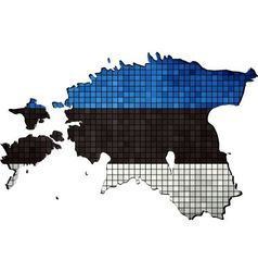 Estonia map with flag inside vector