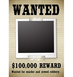 A wanted poster vector