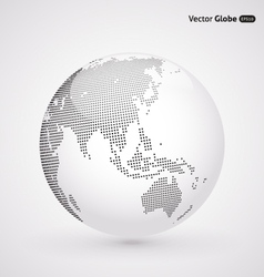 abstract dotted globe Central heating views over vector image