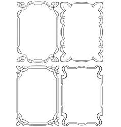 set of beautiful framework vector image
