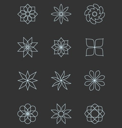 Circular design elements vector