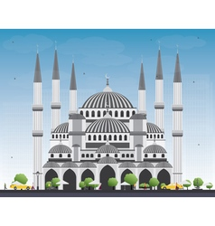 Blue mosque in istanbul turkey vector