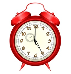 Icon of red alarm clock vector