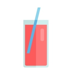 Glass with sweet beverage vector