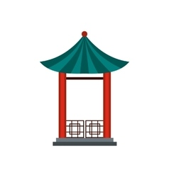 A japanese lotus pavilion icon flat style vector