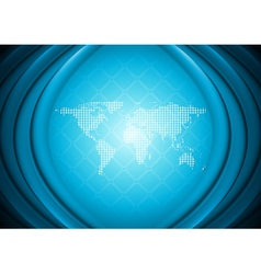 Abstract technology design with world map vector image vector image