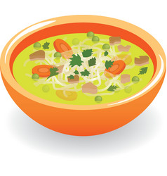 beef broth soup vector image
