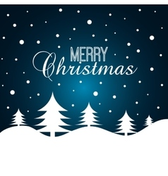 card merry christmas with christmas tree graphic vector image vector image